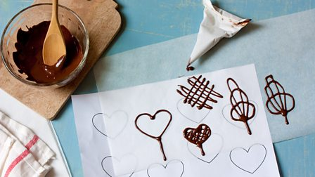 How to pipe chocolate decorations