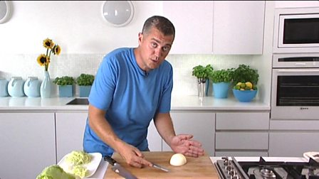 Learning to chop: dicing an onion