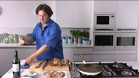 Thickening gravy using beurre manié