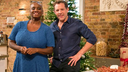 hosts matt tebbutt and andi oliver are joined by adil ray and jo ...