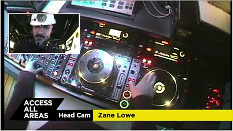 Behind the Scenes Zane Lowe in the Mix