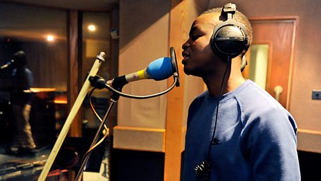 George the Poet in the 1Xtra Live Lounge