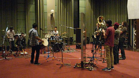 Red Baraat in Session for World on 3