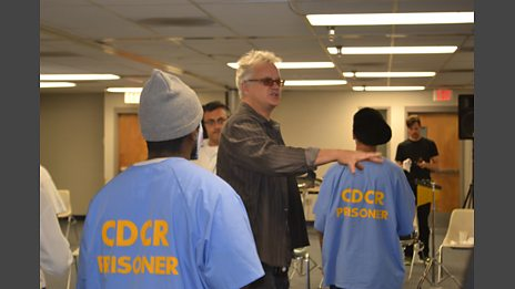 Tim Robbins in Norco prison with the inmates