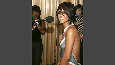 Rihanna in the Live Lounge - 5 Dec 07