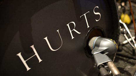 Hurts in session for Zane Lowe