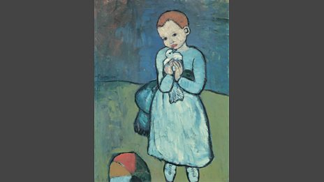 Child with a Dove, Pablo Picasso 1901