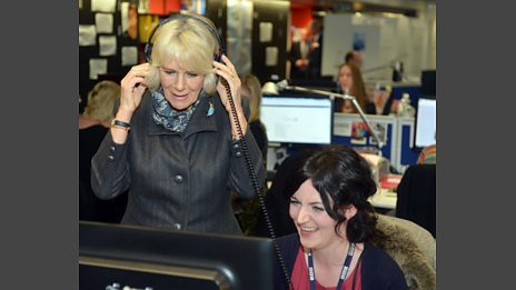 The Duchess of Cornwall visits Woman's Hour
