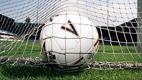 Football in net