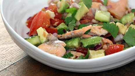 Smoked trout salsa