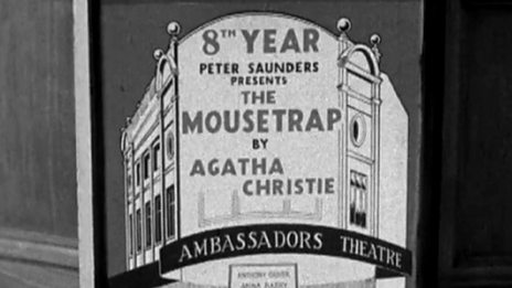 1960 news report on 8th anniversary of The Mousetrap
