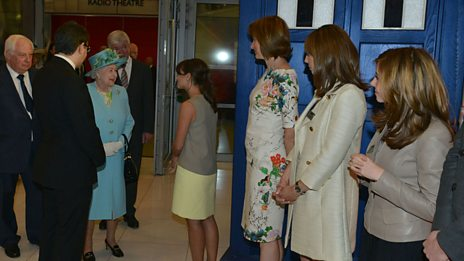 Jenna Coleman is presented to Her Majesty The Queen