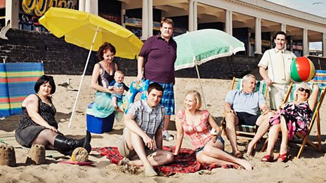 Gavin Stacey beach Rob Brydon interview promo