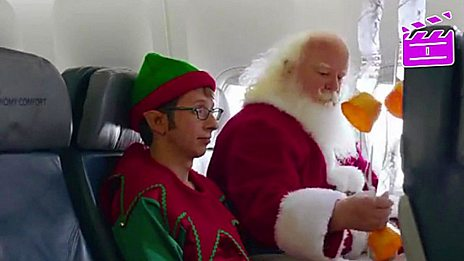 Santa in a safety video
