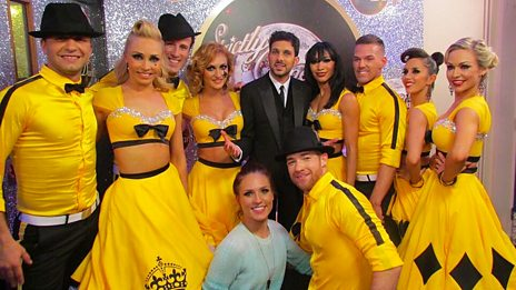 The pro-dancers meet Dynamo