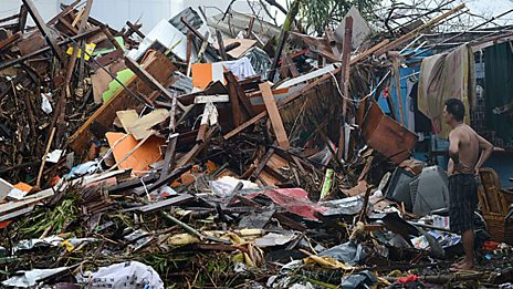 Damage caused by Typhoon Haiyan