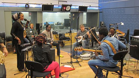 Image for Listen to Oumou Sangaré and Bela Fleck in session