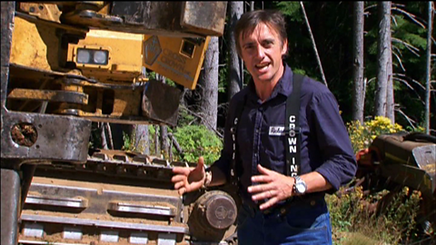 Image for Richard Hammond gets to grips with being a lumberjack