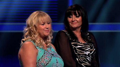 Image for Kay and Karen celebrate their win, despite throwing away £100,000