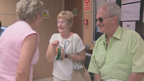 Image for Angela Rippon spends time at the British Consulate in Palma