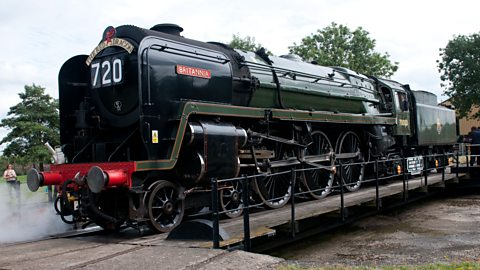 Image for Jane learns about the historic locomotive Britannia as it thunders through Cambridgeshire