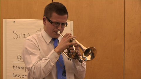 Image for Brass workshop with deaf musician Sean Chandler