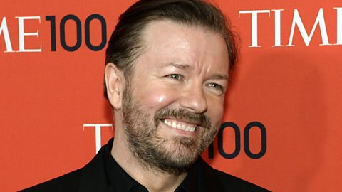 Image for Ricky Gervais on broadcasters 'they have got to either embrace the internet or they are going to become dinosaurs'
