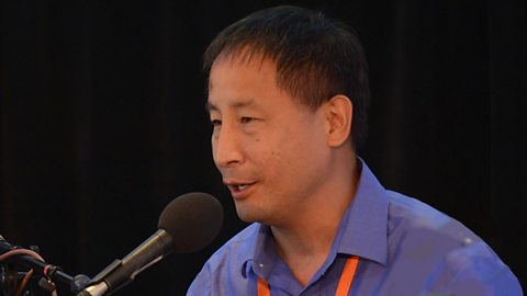 Image for Can we avoid becoming 'dinosaur toast'? Asteroid hunter and former NASA astronaut Edward Lu.  Photo © aspeninstitute-internal