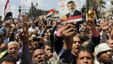Image for Pro-Morsi Supporters Protesting