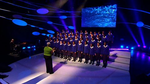 Image for The Maria Fidelis school gospel choir sing 'O Mary, O Martha'