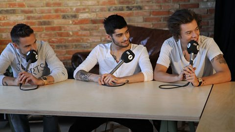 Image for One Direction chat to Grimmy about erect hair, wombs and much more!