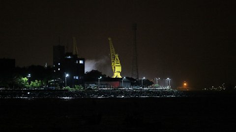 Image for 18 submariners reported trapped after a fire off Mumbai