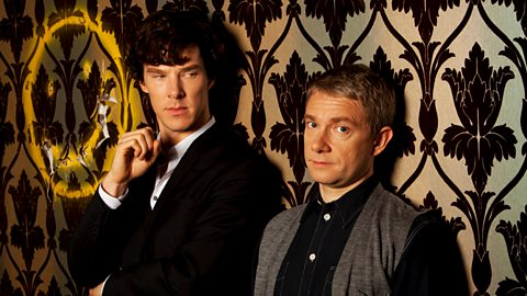 Sherlock+Watson+smiley face mycroft