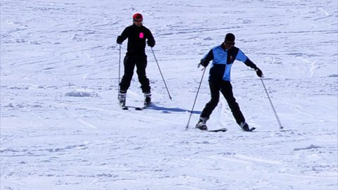 Image for Novice skiier Chase tries skiing with a hangover