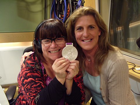 Dawn with Equestrian Tina Cooke and her Olympic silver medal