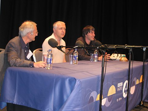 Geneticist Steve Jones, cosmologist, Marcus Chown and Brian Cox