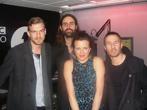 Miike Snow came in with a special delivery for Annie Mac