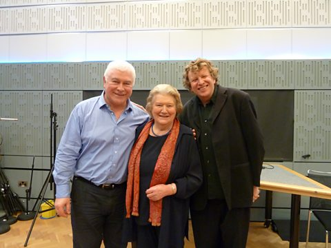 Sean with Patricia Routledge and Piers Lane