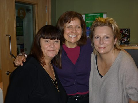 Dawn and Jennifer with guest Rebecca Front