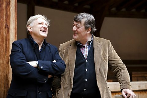 Stephen Fry and Simon Russell-Beale at The Globe Theatre