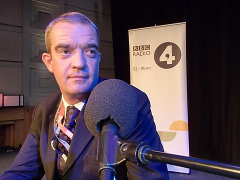 GILES DILNOT IMAGINES HE IS A PANELLIST IN BBC'S BROADCASTING HOUSE RADIO THEATRE