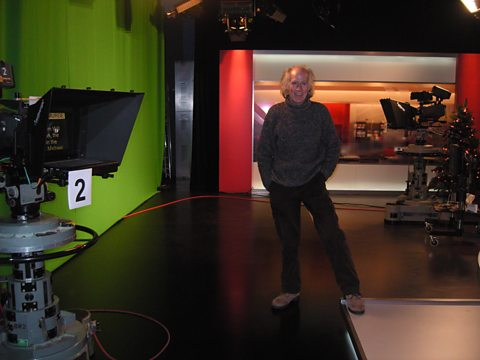 Terry in the old Animal Magic studio (now the home of a BBC local news prog)