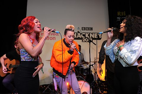 Stooshe perform in the Live Lounge at BBC Radio 1 & 1Xtra's Academy