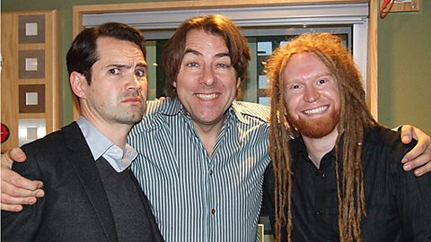 Jonathan with Jimmy Carr & Newton Faulkner