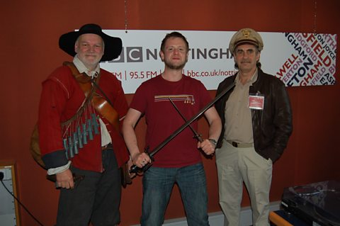 Richard with Glynn Hopkins and Paul Norton, period re-enactors