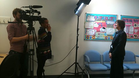 Filming at the stammering support centre
