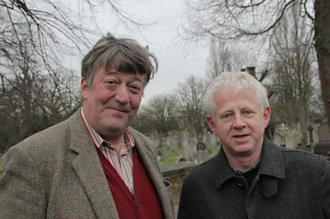 Stephen Fry and Richard Curtis at Graveyard