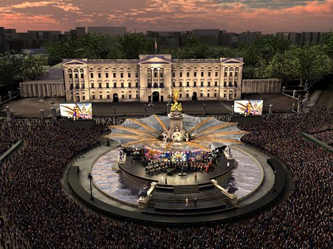 An artist's impression of The Diamond Jubilee Concert