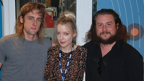 Lauren with Jim and Carl of My Morning Jacket