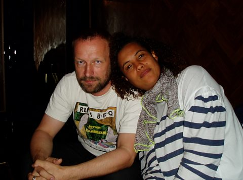 Mats Gustafsson &amp; Neneh Cherry backstage at the Village Underground